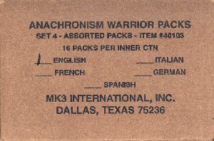 Anachronism Set 4 Warrior Packs 16ct Booster Box