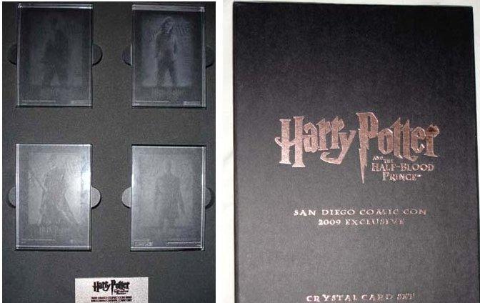 Harry Potter 2009 SDCC Exclusive Crystal Card Set of 4