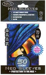 Max Protection Yugioh Size Dragon Eye Blue 50ct Sleeves Pack