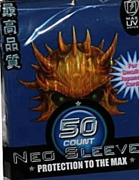 Max Protection Yugioh Size Blue Skull Yellow Wave 50ct Sleeves Pack 15ct Box