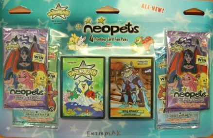 Neopets Enterplay Fun Pack Four Pack Blister Plus Two Bonus Cards