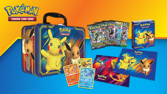 Pokemon Fall 2018 Collector's Chest Tin (Pikachu & Eevee)