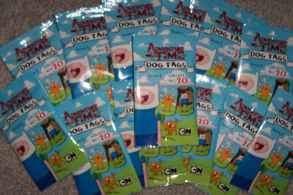 Adventure Time Dog Tag Series One Lot of 24 Packs