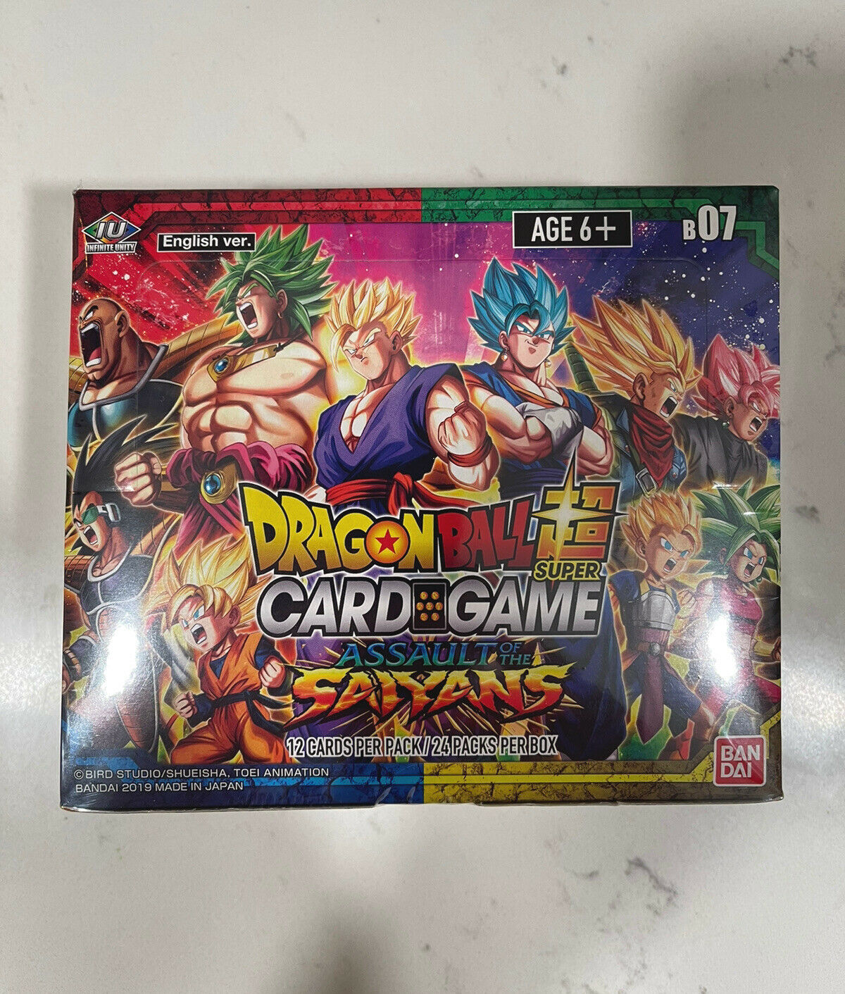 Dragonball Super Series 7 Assault of the Saiyans  Booster Box