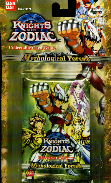 Knights of the Zodiac Collectable Card Game Mythological Forces 1st Edition Blister Pack