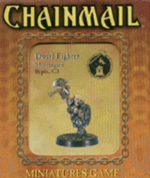 D&D Miniatures Chainmail Dwarf Fighter Mordengard