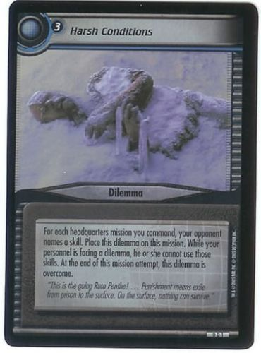Star Trek 2nd Edition Harsh Conditions 0D1 Foil Promo Card