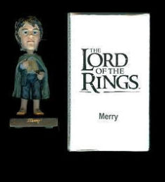 LOTR Upper Deck Mail Away 3 inch Merry Bobble Head
