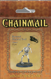 D&D Miniatures Chainmail Battered Skeletal Troll Ahmut