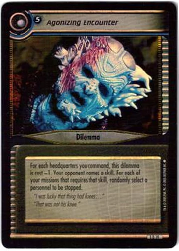 Star Trek 2nd Edition Agonizing Encounter  0D19 Foil Promo Card (no logo)