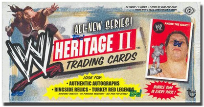 Topps WWE Heritage II Trading Cards Box