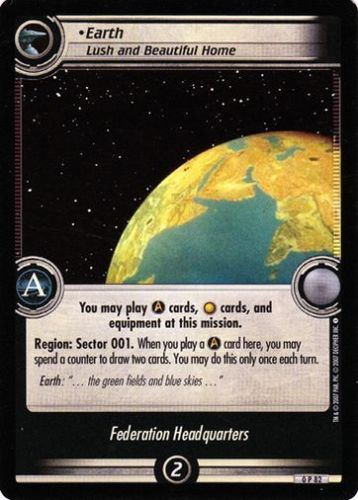Star Trek 2nd Edition Earth Lush and Beautiful 0P82 Foil Promo Card