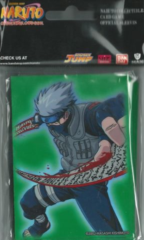 Max Protection Naruto CCG Bandai Official Limited Edition Card Sleeves- Kakashi Pack (w/ green background)