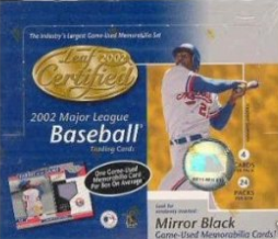 Leaf Certified 2002 Major League Baseball Trading Card Hobby Box
