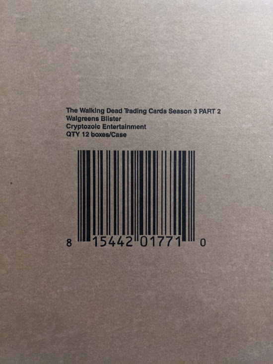 The Walking Dead Season 3 Part 2 Trading Cards 240ct Retail Blister Pack Case
