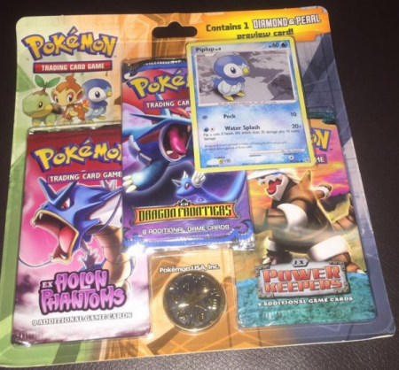 Pokemon EX Series 3-Pack Blister (Holon Phantoms, Dragon Frontiers, Power Keepers)