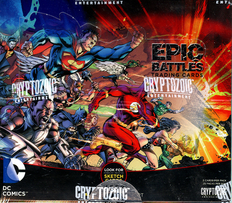 Cryptozoic DC Epic Battles Trading Cards Box