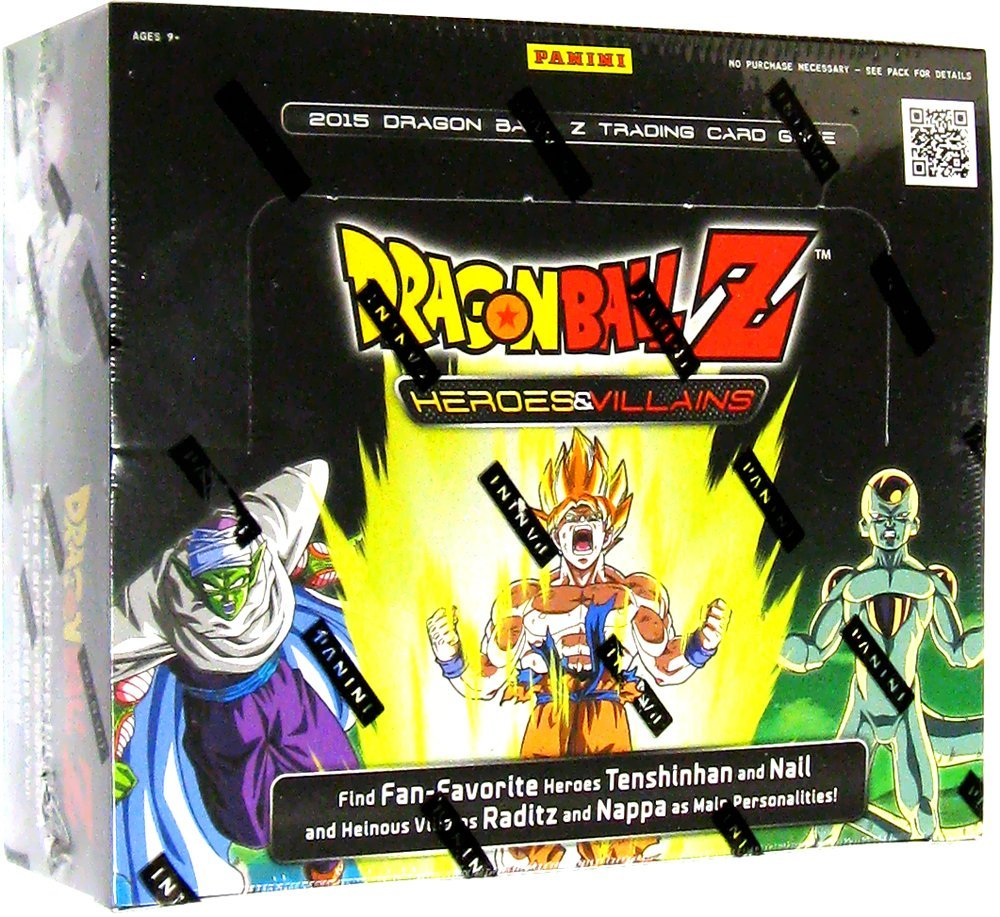 Dragonball Z Heroes & Villains Panini TCG Booster Box 12ct Case