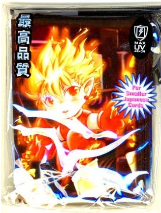 Max Protection Yugioh Size Fire Boy 50ct Sleeves Pack 15ct Box