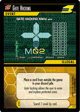 Dot Hack Gate Hacking 1P4 Foil Card