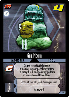 Dot Hack Goil Menhir 1P2 Foil Card