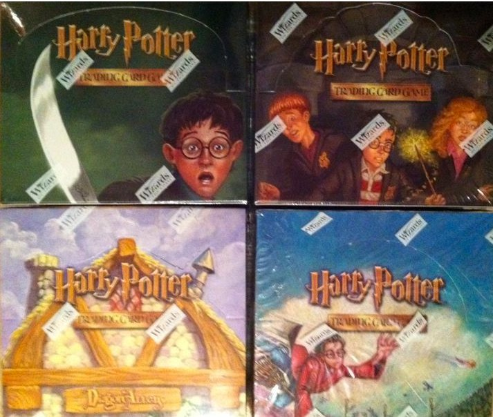 Harry Potter 4 Booster Box Lot Diagon, Hogwarts, Chamber, Quidditch