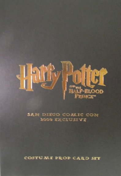 Harry Potter 2009 SDCC Exclusive Costume Prop Card Set of 4