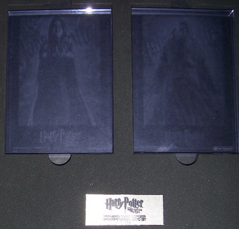 Harry Potter 2009 SDCC Exclusive Crystal Card Set of 2