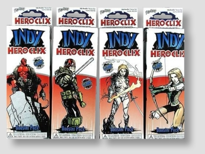 Indy HeroClix Miniatures: 12 Booster Pack Lot