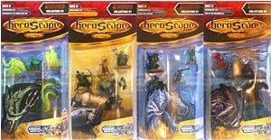 Heroscape: Wave D1(11), Champions of the Forgotten Realms - Complete Set of 4 Packs