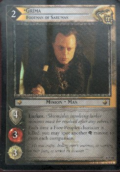 LOTR Grima Footman of Saruman OP102 Foil Card