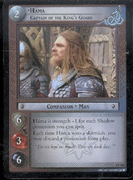 LOTR Hama Captain of the Kings Guard Foil Promo Card