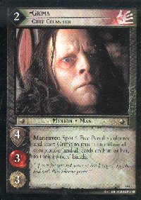 LOTR Large Grima Chief Counselor Promo Card