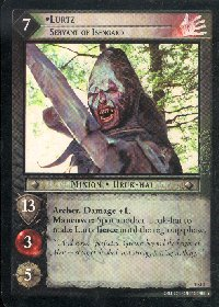 LOTR Large Lurtz Servant of Isengard Promo Card