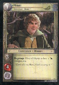 LOTR Large Merry Impatient Hobbit Promo Card