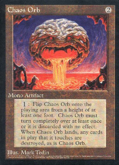 MTG Oversized 6 x 9 Chaos Orb Promo