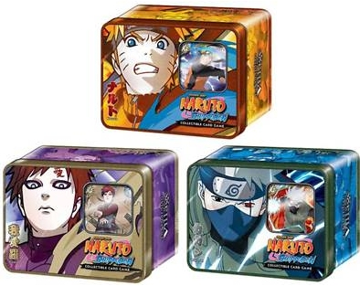 Naruto Guardian of the Village Lot of 3 Tins
