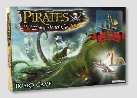 Pirates Quest For Davy Jones Gold Board Game
