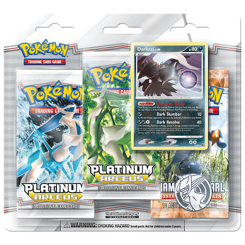 Pokemon Platinum Arceus 3 Booster Pack Blister