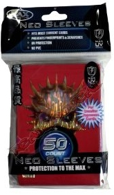 Max Protection Yugioh Size Red Skull Silver Wave 50ct Sleeves Pack 15ct Box