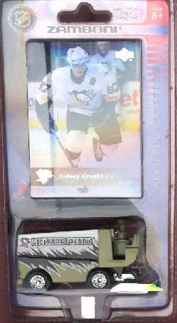 Penguins Zamboni with Sidney Crosby Card