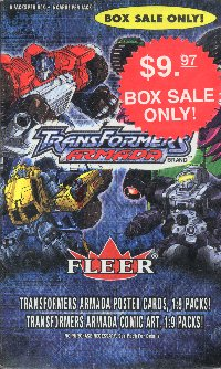 Transformers Armada Trading Cards 6 Pack Box