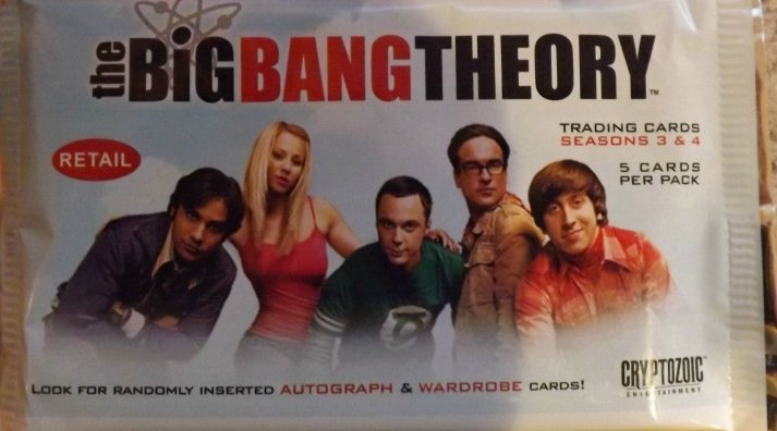 Cryptozoic Big Bang Theory Seasons 3&4 Lot of 24 Packs
