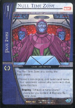 Vs System CCG Marvel Null Time Zone Rare Card