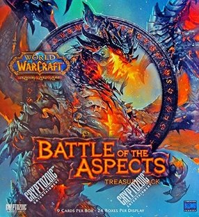 World of Warcraft TCG Battle for Aspects Treasure Pack Box Case