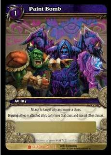 World of Warcraft TCG Paint Bomb Unscratched Loot Card