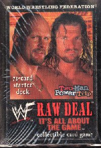 WWE Raw Deal Its All About The Game Starter Combo 2 Decks